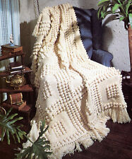 Lovely easy Knit Popcorn Blanket- Knitting pattern,knitted in squares  & joined