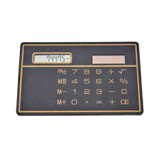 Mini Credit Card Solar Power Pocket Calculator Novelty Small Travel Compact Wow