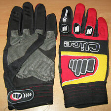 New Clice Speed Trials Bike Riding Gloves Motocross Adult Size 9 M-L Red Yellow