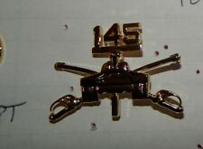 ARMY OFFICER B.O.S. COLLAR DEVISE, ,1ST BATTALION,145TH ARMOR REGIMENT