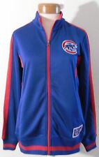 NWT Majestic Chicago Cubs Womens Full-Zip Logo Track Jacket S Blue/Red MSRP$70