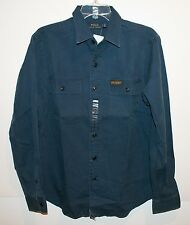 Polo Ralph Lauren Mens Newport Navy Blue Cotton Button-Front Work Shirt NWT M