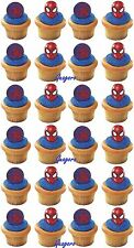 Spider-Man 24 Cupcake Cake Rings Birthday Party Supply Favors Prizes Decorations
