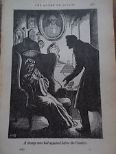 Original 1936 Print by C WALTER HODGES Book Illustration from THE QUEEN OF SPADE