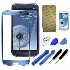 Pebble Blue Screen Glass Lens for Samsung Galaxy SIII S 3 i9300 Replacement Part