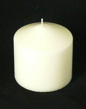 10 Pillar Ivory Wax 8x8cm Candle wedding function venue bistro cafe table decor
