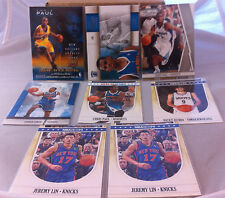 2009 - 2011 CHRIS PAUL RICKY RUBIO JEREMY LIN (8) CARD LOT