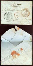 Spagna + ITALIA 1844 insolito improvvisato busta da documento invertita
