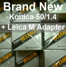 NEW! Konica Hexanon AR 50mm F1.4 f/1.4 (+Adapter for Leica M M10 240 262 SL 601)
