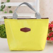 Portable Picnic Insulated Food Storage Box Waterproof Tote Lunch Bag Yellow New