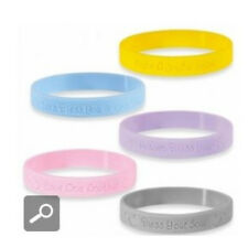 """Precious Moments PINK rubber silicone bracelet wristband """" LOVE ONE ANOTHER """""""