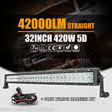"CREE 32inch / 35"" 420W LED Light Bar 5D+ Off Road Combo Driving PK Osram 42"" ATV"