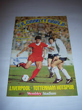 1982 CHARITY SHIELD - LIVERPOOL v TOTTENHAM HOTSPUR - FOOTBALL PROGRAMME