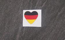 Fussball EM Aufkleber Deutschland Herz / Neu 4 x 4 cm