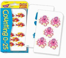 TREND kids childrens Maths Counting Pocket Flash Cards