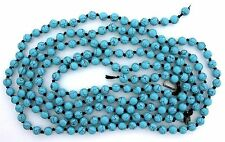 6.5mm Round Magnesite Blue Color Turquoise Gem Bead LARGE LONG 60 Inch Strand