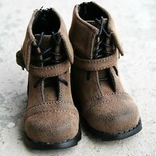 46# Brown 1/4 MSD LUTS BJD Doll Dollfie Synthetic Leather Shoes Boots