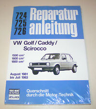 Reparaturanleitung VW Golf I / Caddy (14D) / Scirocco II - ab 1981 bis 1983!