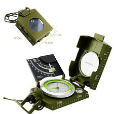 Green Color  Professional Military Army Metal Sighting Compass w/Inclinometer
