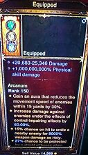 DIABLO 3 MODDED RING HIGH DAMAGE 1,000,000,000% DAMAGE PATCH 2.4 XBOX ONE