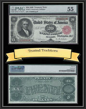 TT FR 374 1890 $20 TREASURY NOTE ORNATE BACK RARE PMG 55 RED SEAL