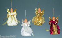 15CM TRADITIONAL HANGING ANGEL CHRISTMAS TREE TOP TOPPER DECORATION WITH WINGS