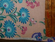 cotton quilt fabric shabby cottage chic rose pink BTY Concord floral chintz teal