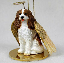 CAVALIER KING CHARLES (BRN) ANGEL DOG CHRISTMAS ORNAMENT HOLIDAY Figurine Statue