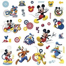 MICKEY MOUSE CLUBHOUSE CAPERS 31 Wall Decals Pluto Goofy Donald Decor Stickers