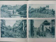 1917 SOMME BAPAUME ENTERING PERONNE MILLENCOURT ANZACS WWI WW1 DOUBLE PAGE