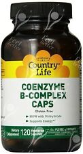 Country Life, Gluten Free, Coenzyme B-Complex caps, x120Vcaps