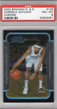 2003 Bowman R. & S. #140 - CARMELO ANTHONY - CHROME - PSA 8 NM - MT