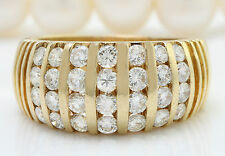 2.50CTW Natural VS1 / G-H DIAMONDS in 14K Solid Yellow Gold Men Ring
