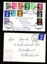 FDI First Day Covers (x2) ~ DELAYED BY POST OFFICE STRIKE Great Britain ~ 1971