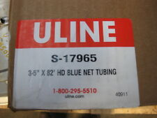 """Uline S-17965  3-5"""" Heavy Duty Protective Blue Netting Tubing 82 Ft. New"""
