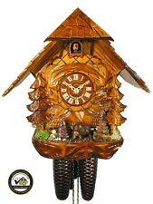 Schwarzwälder Kuckucks-Uhr/Schwarzwald-Haus 8-Tage Wild-Schwein Kukuks-Uhr Holz