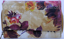 Fabretti Floral Design Faux Leather Credit Card / Note / Coin Purse