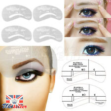 UK Eyebrow Shape Stencils Shaper Grooming Kit Brow MakeUp Template Tool Reusable