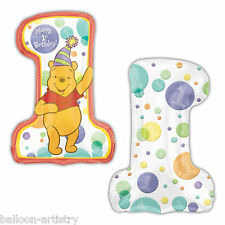 "28"" Winnie Pooh 1st Birthday Supershape Foil Balloon"