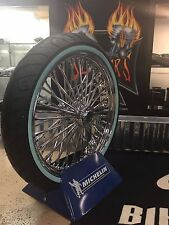"21"" x 48 Fat King Spoke Front Wheel Package WWW Tire Chrome Dual Disc 3/4 &1"""