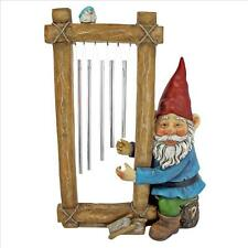 Ringing His Chimes Garden Gnome Statue Design Toscano Gnome  Chimes  Ring  Home