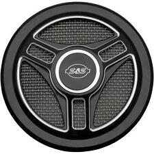 S S Cycle Tri-Spoke Stealth Air Cleaner Cover - 170-0210 48-3977