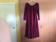 Laura Ashley Vintage Red Velvet Maxi Dress with original tags  - Never worn