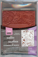 Hero Arts-Sizzix 657765 Stamp & Embossing Set Use w/Cuddle Bug Or Sizzix  B1