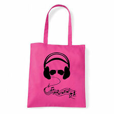 Art T-shirt, Borsa shoulder Cuffie e Occhiali, Fucsia, Shopper, Mare