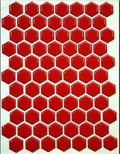 Design your own 3D Lipstick Red Gel Tank Pad, 70 Hexagon set, Dimensions