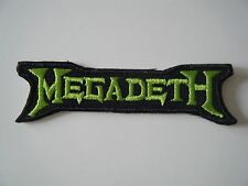MEGADETH PATCH Green Embroidered Iron On Heavy Thrash Metal Band Logo Badge NEW