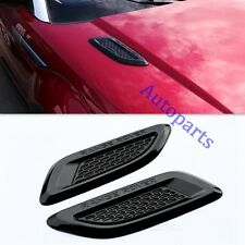 Gloss Black Dummy Hood Vent Slat air wing trim For range rover EVOQUE 2011-UP