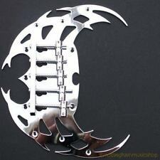 Electric bass guitar 5 string tribal gothic bridge chrome with 5 strings saddles