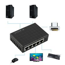 5 Port 10/100Mbps Desktop Ethernet Network LAN Power Adapter Switch Hub L2